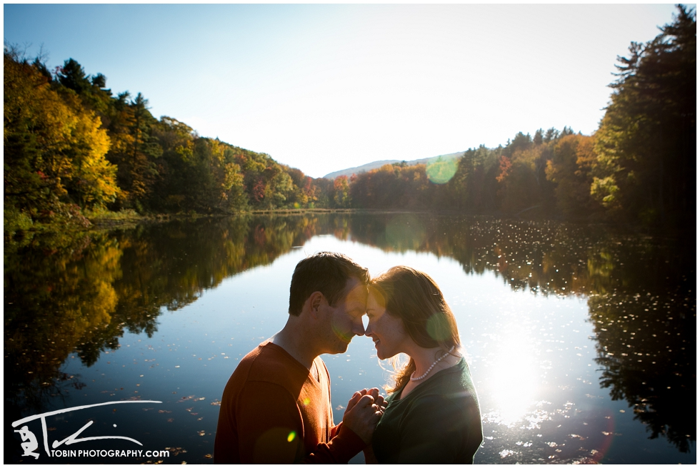 Kat and Tim's Autumn in New England Wonderland Engagement shoot